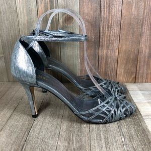 Kate Spade Peep Toe Ankle Strap Heels Size 8.5